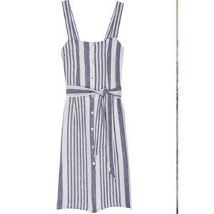 Rails striped button down dress